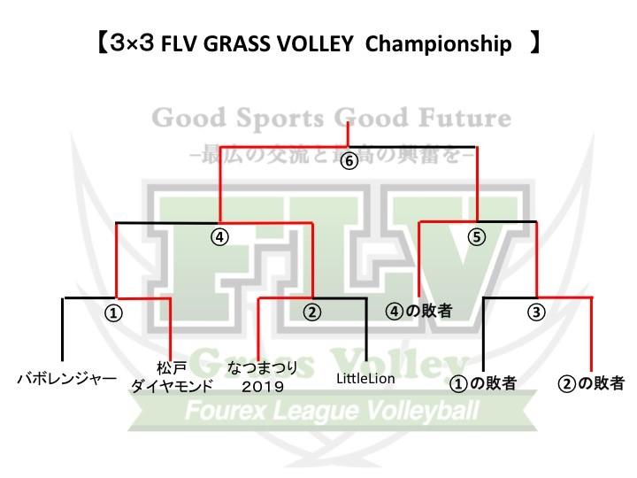 3×3 FLV グラスバレー2019 トーナメント表